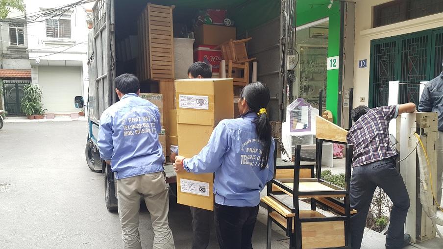 Thuê xe tải chở hàng, chuyển nhà không khó tại vận tải Phát Đạt
